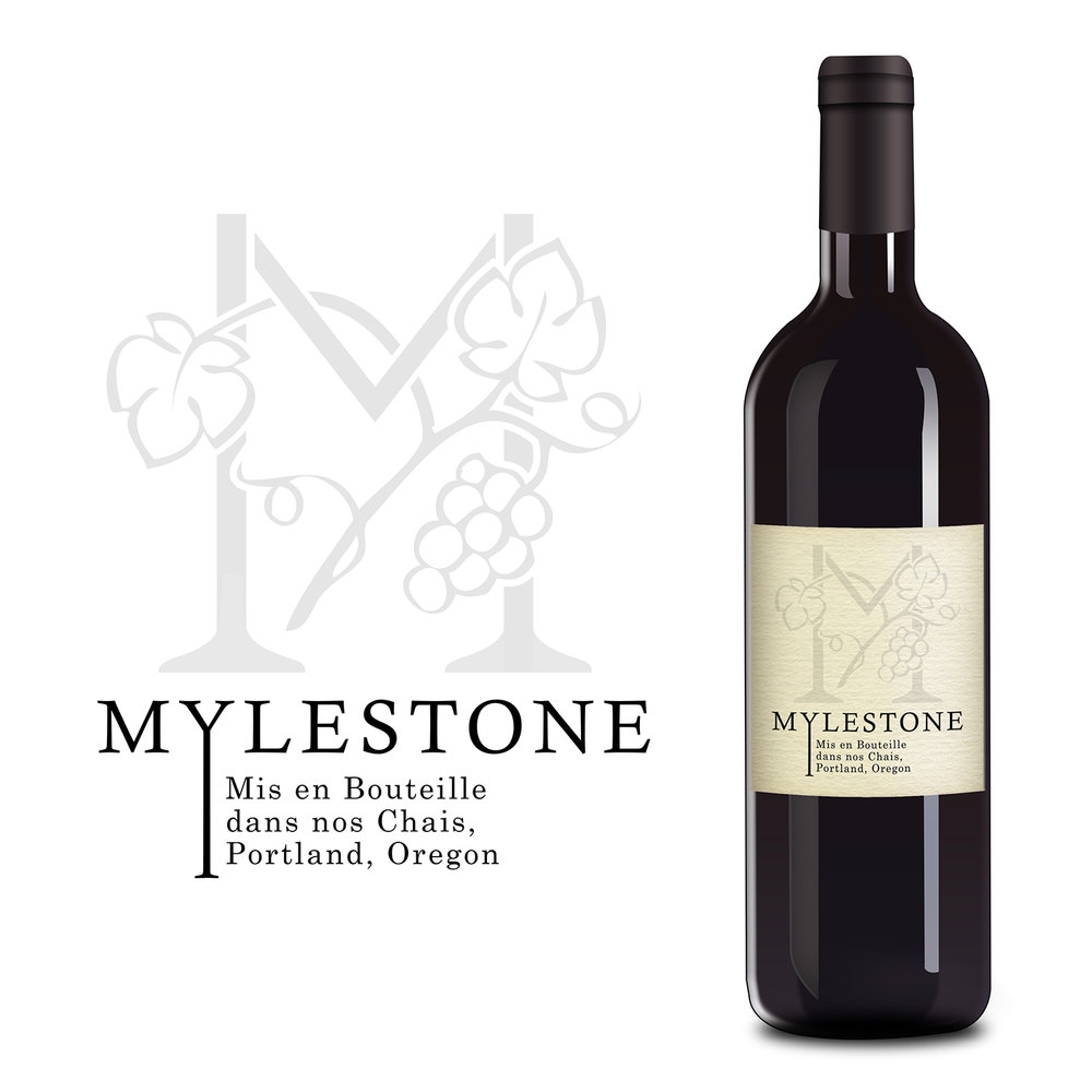 Mylestone Wine Bottle Label