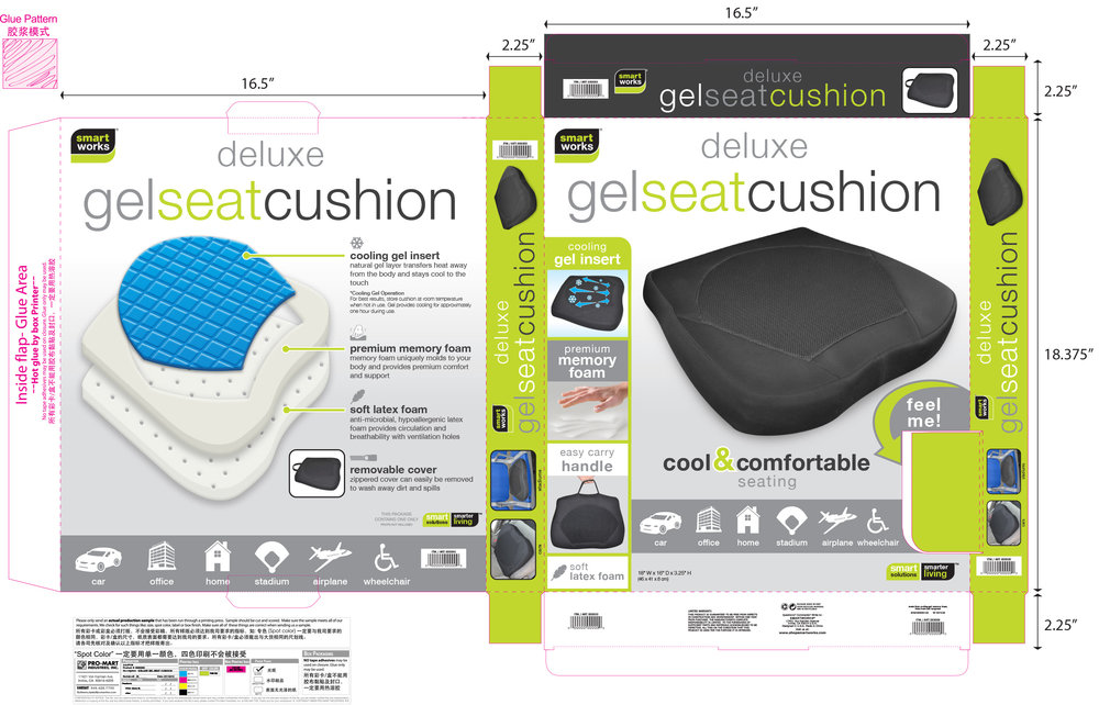 Gel Seat Cushion Box
