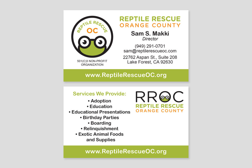 Reptile Rescue OC Business Cards