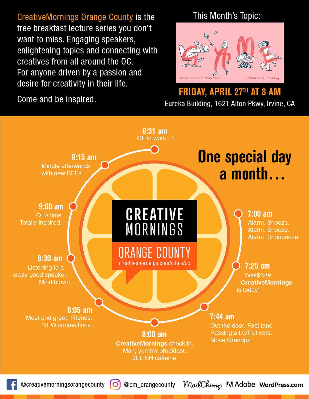 Creative Mornings Marketing Flyer