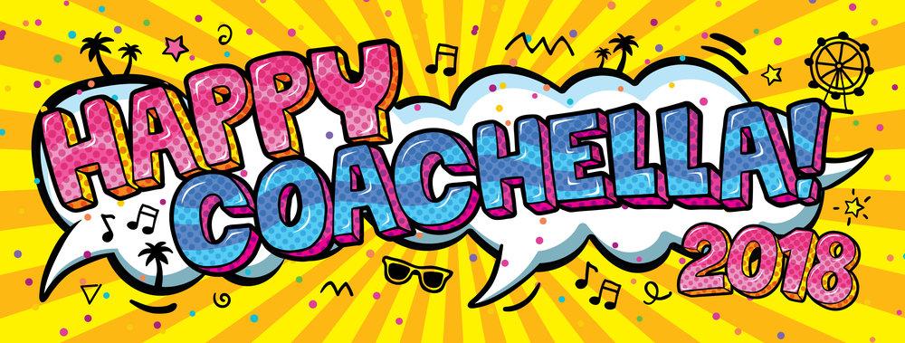 Happy Coachella 2018 Sticker