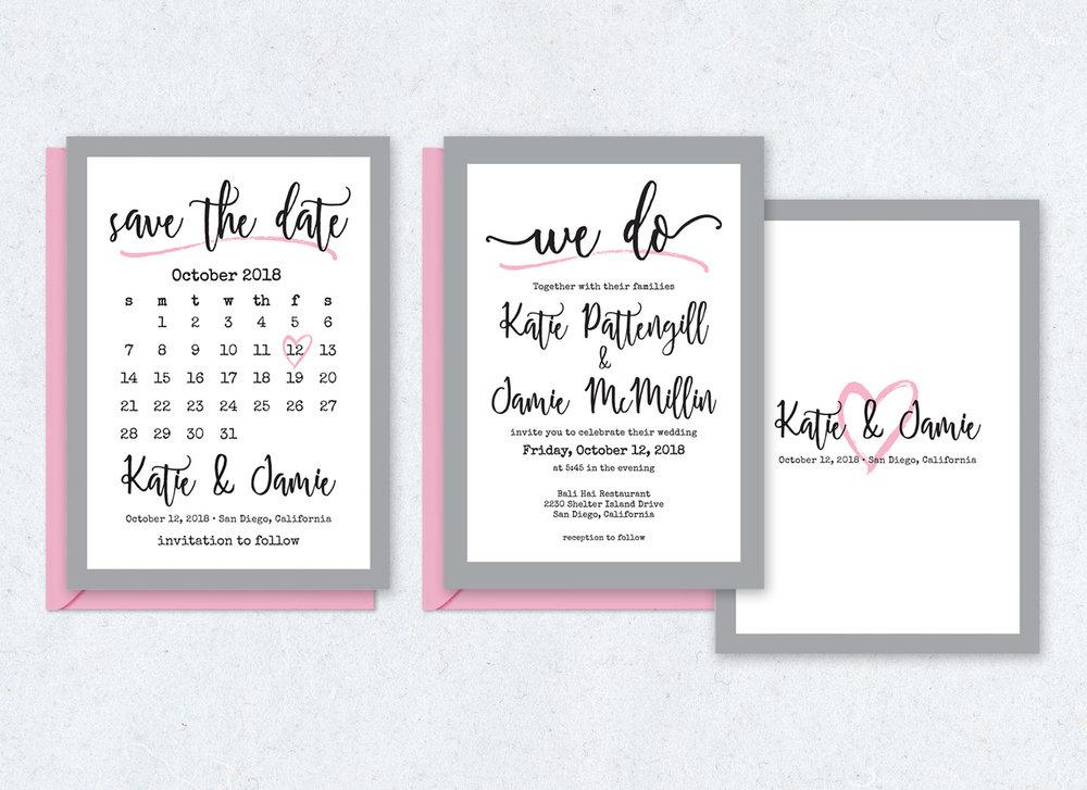 Save the Date Card & Wedding Invitation