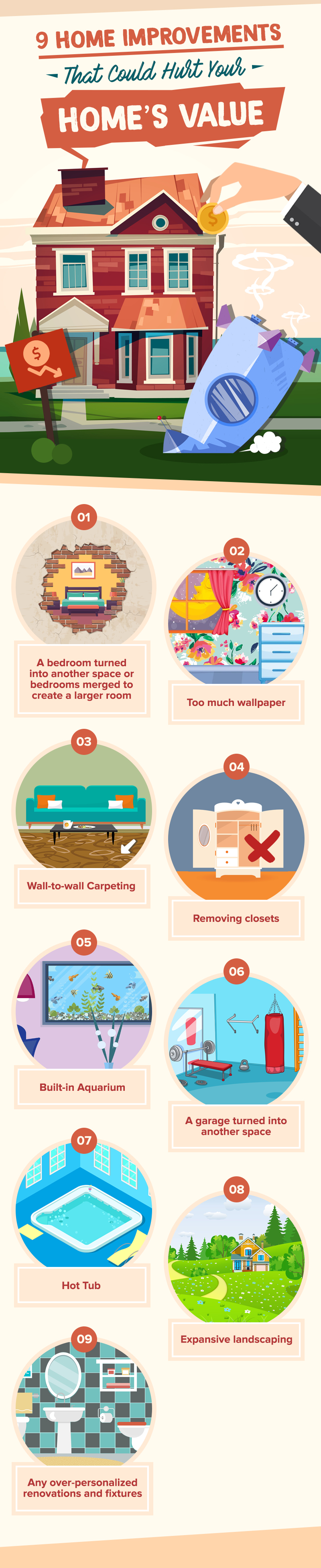 Sellers, Beware! These Home Improvements Could Hurt Your Home's Value