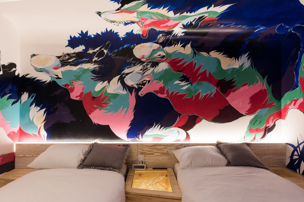BnA HOTEL Koenji - Experience Tokyo's underground art scene. Not for the faint-hearted.Room Capacity: 1 - 2pax/RoomRoom Price: 16000 JPY ~