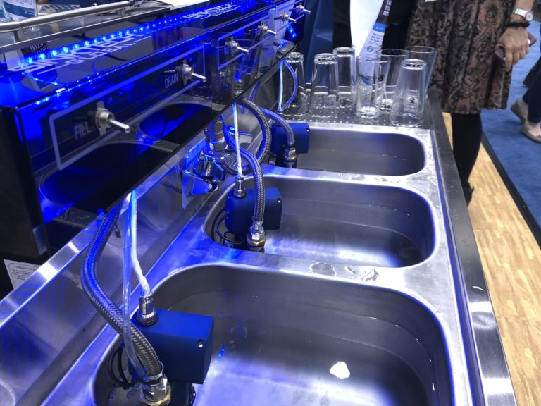 SinkTech demonstration at the National Restaurant Show in Chicago- May 2018