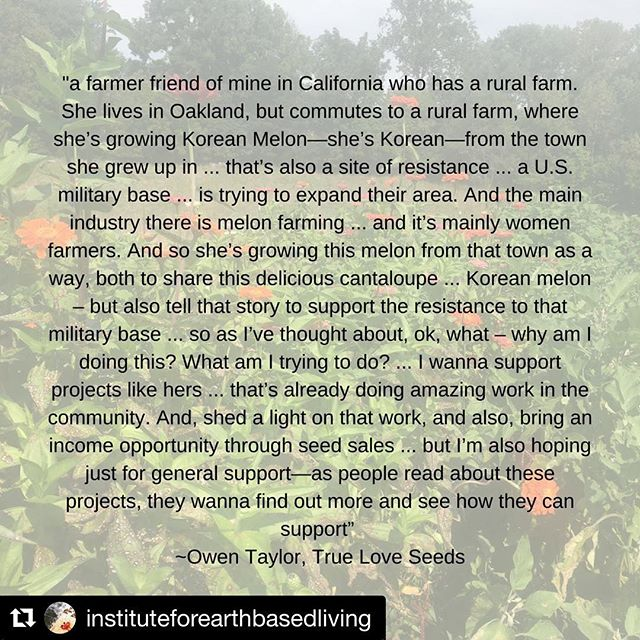 #Repost @instituteforearthbasedliving with @get_repost ・・・ In the most recent episode of THE ROSE HIP ROAD TRIP, I talk with Owen Taylor @seedkeeping from True Love Seeds about supporting culture and cultural foods through seed saving, farming as a spiritual practice and emancipatory education. To hear the full episode, click on the link in bio or find it in the podcast app on your iPhone. #rosehip #rosehiproadtrip #earth #earthbased #earthbasedliving #food #socialjustice #medicine #plantmedicine #spirituality #research #environment #environmentalism #holistichealth #wellness #health #healing #culture #seeds #seedsaving #foodculture #conservation #saveseeds #seedkeeping
