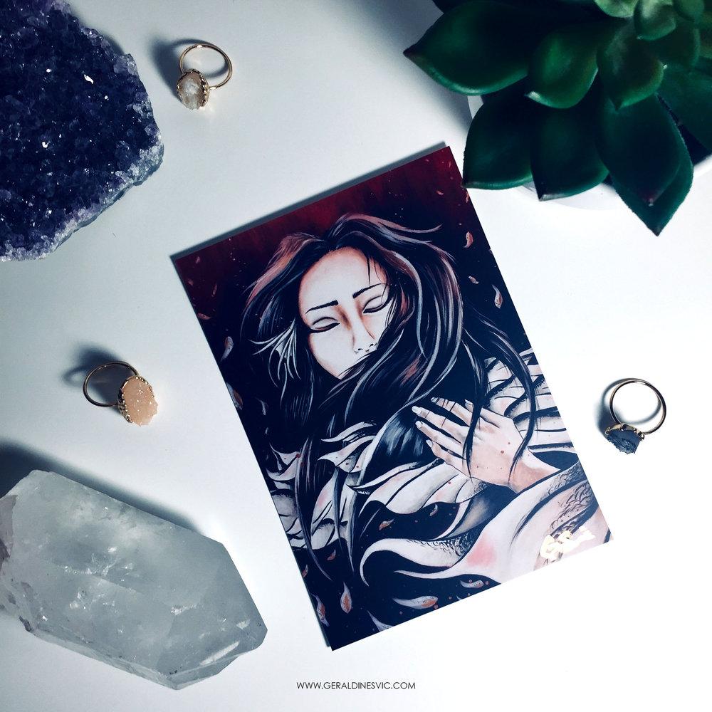 """Somnus"" Signed Postcard"