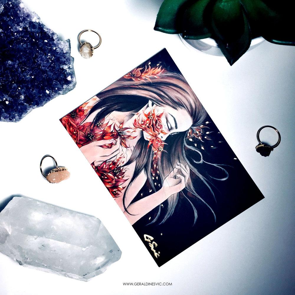 """Eradication of Terra Mater"" Metallic Postcard"