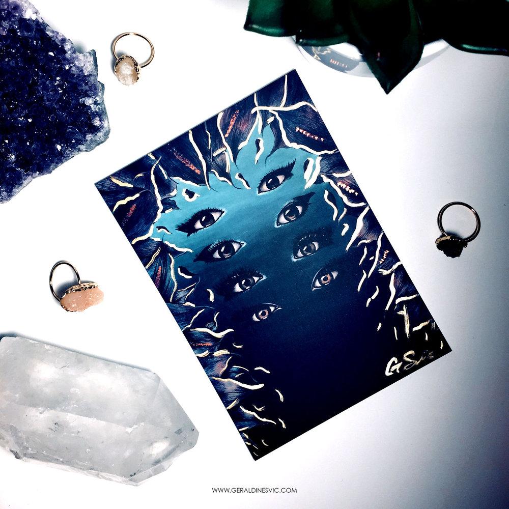 """21"" Metallic Postcard"