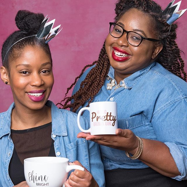 Love the skin you're in and shine bright like a diamond, pretty brown girl. . 📷: @raylovejr . ☕️: @hobbylobby and @blackgirlnotes . . . #empower #blackgirlmagic #queensdrinktea #queen