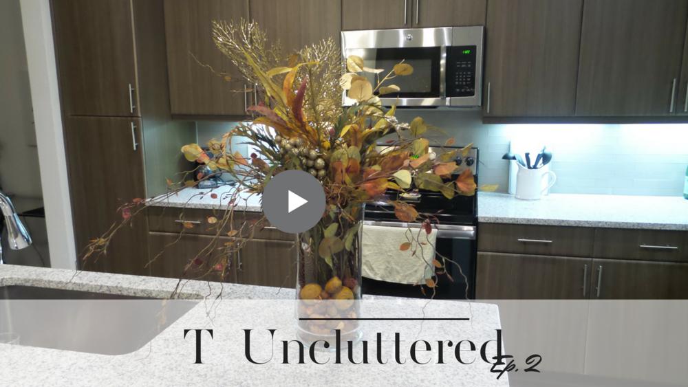 faux floral fall arrangement