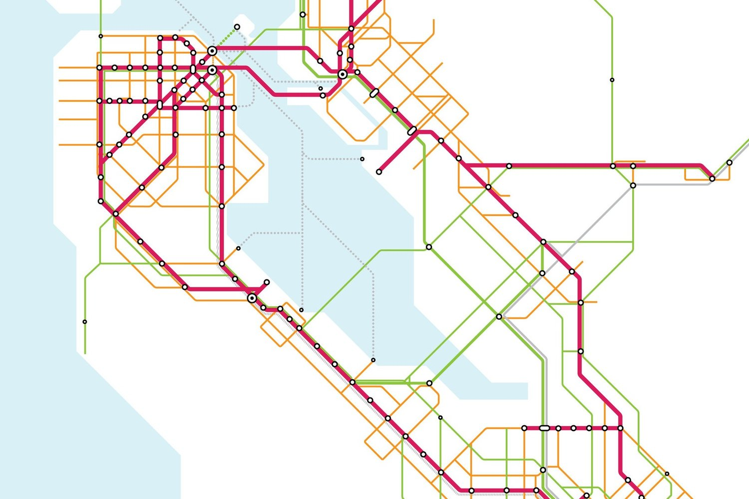 172 Norfolk St On Subway Map.Vision Map Seamless Bay Area