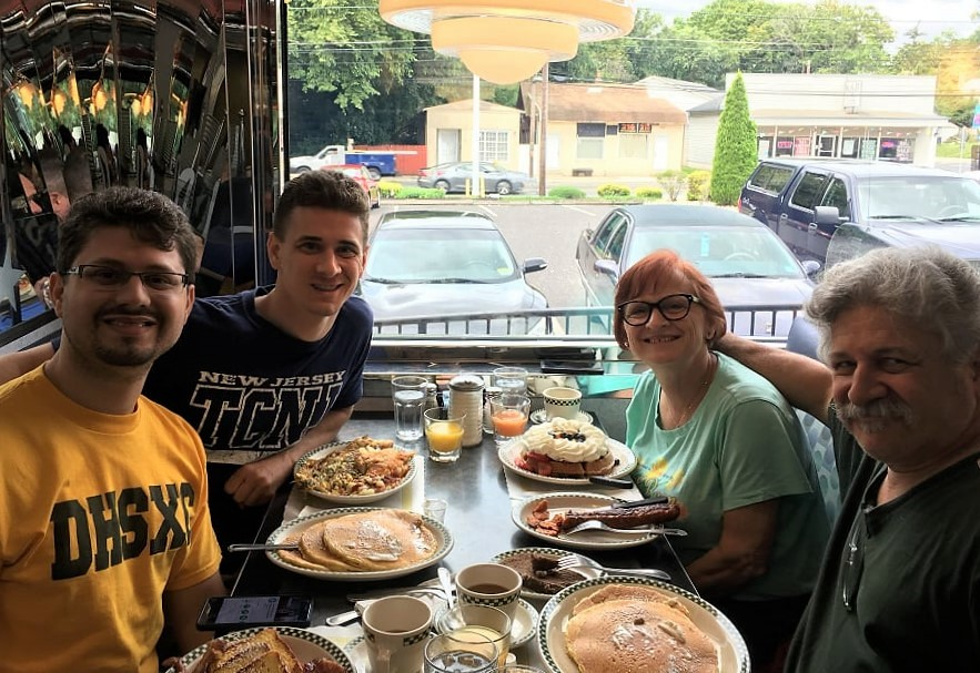 My family and me at Meadows Diner.