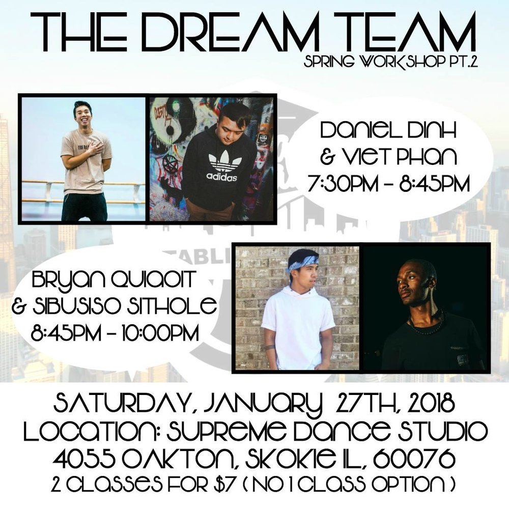 Come support the Dream Team as we prepare to represent Chicago at Elements XVIII Dance Competition in Boston this Spring!