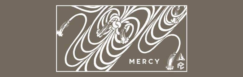 The promotional artwork for Mercy.PNG, which was designed by Ben Dungca.