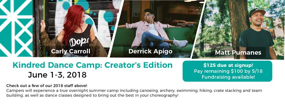The newest edition of Kindred Dance Camp features dance community members Carly Carroll, Derrick Apigo, Matt Pumanes, and more!