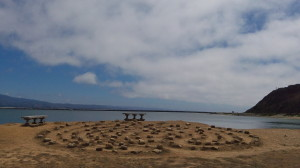 Mavericks Labyrinth with sky