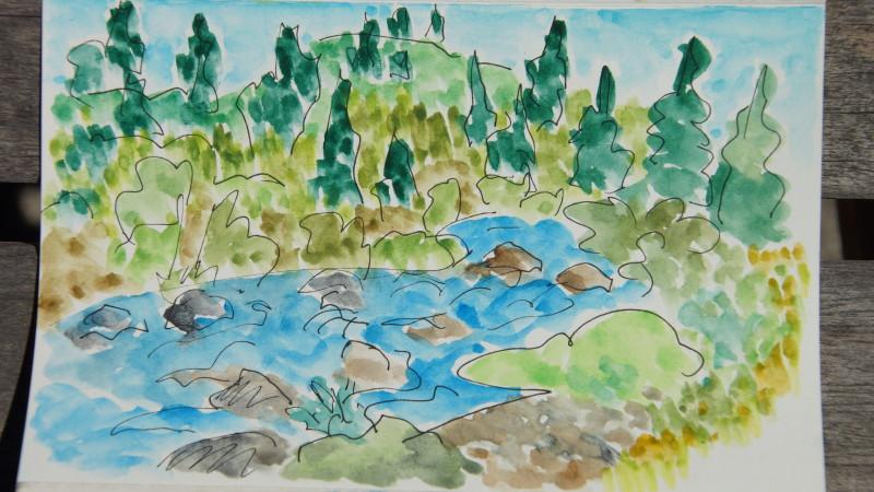 Snake River sketch, July 2015.