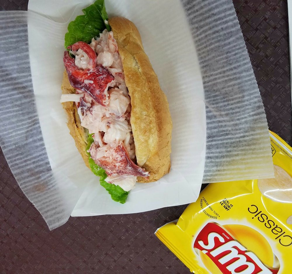 Lobster Roll and Chips