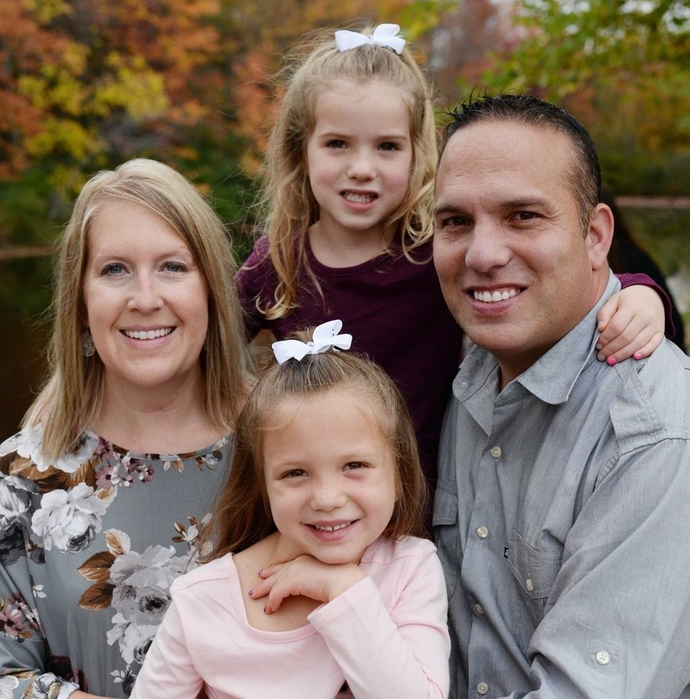 Pictured above is the Rylant Family, Louis, Holly and their two daughters on a fall New Hampshire day.