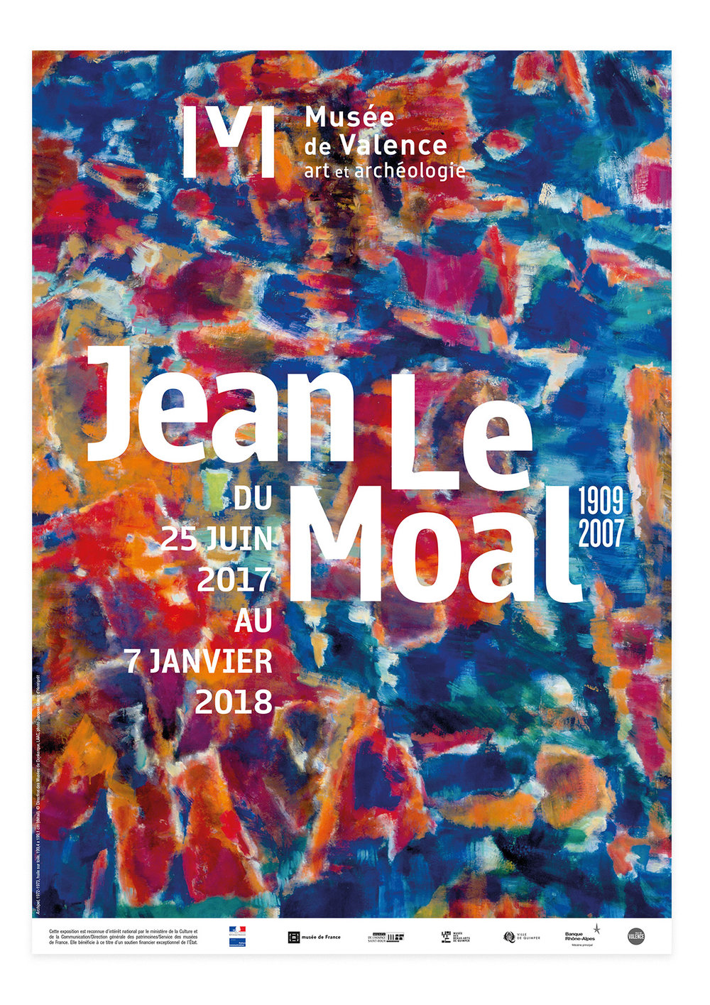 Exposition  Jean Le Moal 1909-2007  communication / Signalétique  Musée de Valence
