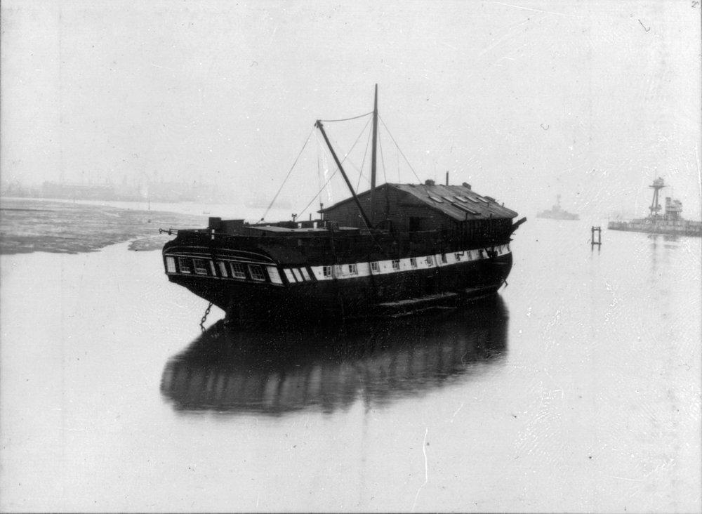 Copy of Actaeon (VERNON IV), the former 50 gun HMS Vernon, in 1904