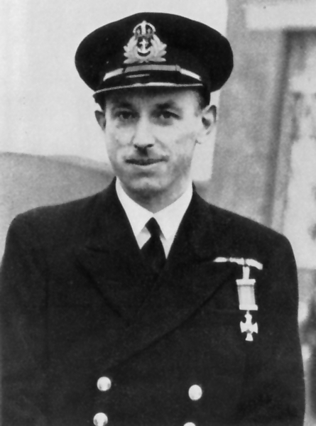 Copy of Lt Cdr (later Cdr) John Garnault Delahaize Ouvry DSO RN