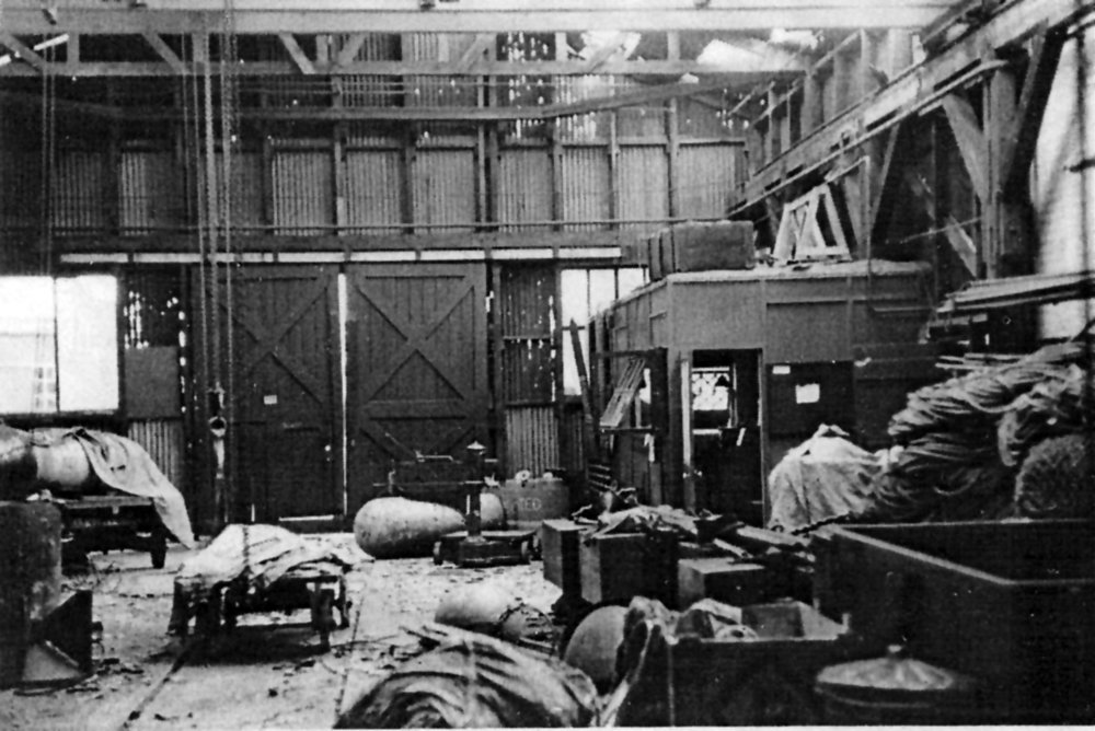 Copy of VERNON Mining Shed after explosion of mine booby-trap