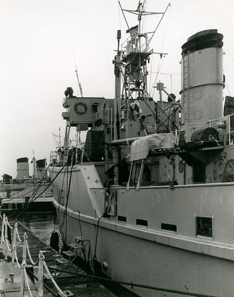 Vernon Squadron ships alongside HMS Vernon during the 1960s