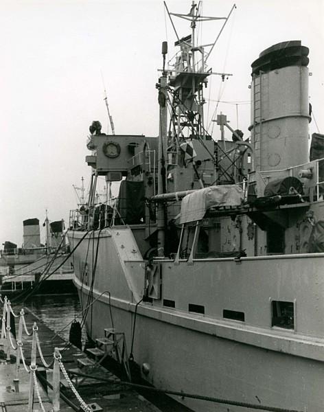Copy of Vernon Squadron ships alongside HMS Vernon during the 1960s