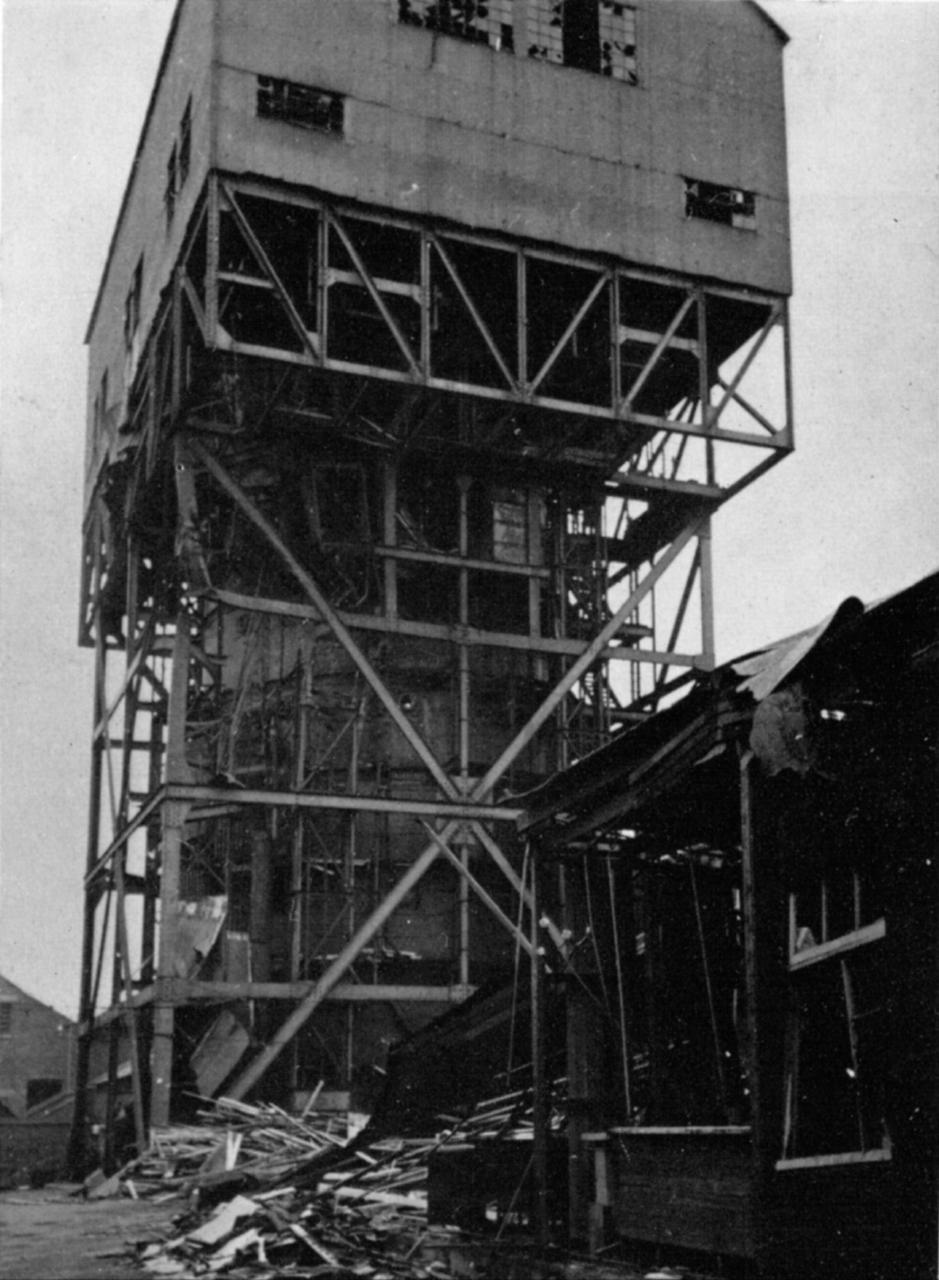 Vernon Mining Trials Tank bomb damage March 1941.jpg