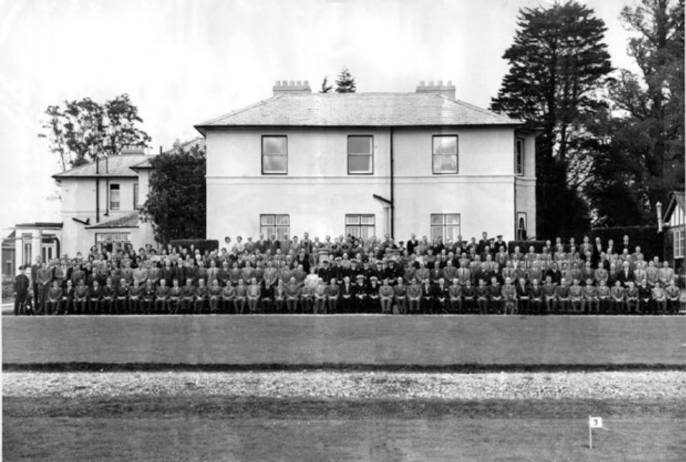 Mine design staff at West Leigh House in Havant in 1942