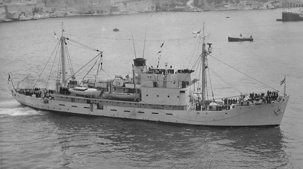 Copy of HMS Reclaim at Malta
