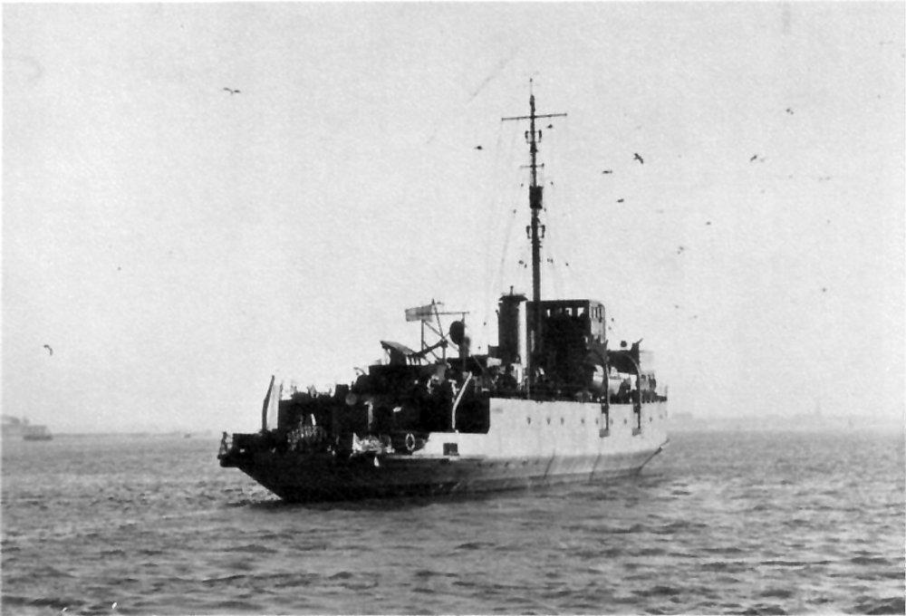 HMS VERNON's minelayer HMS Plover