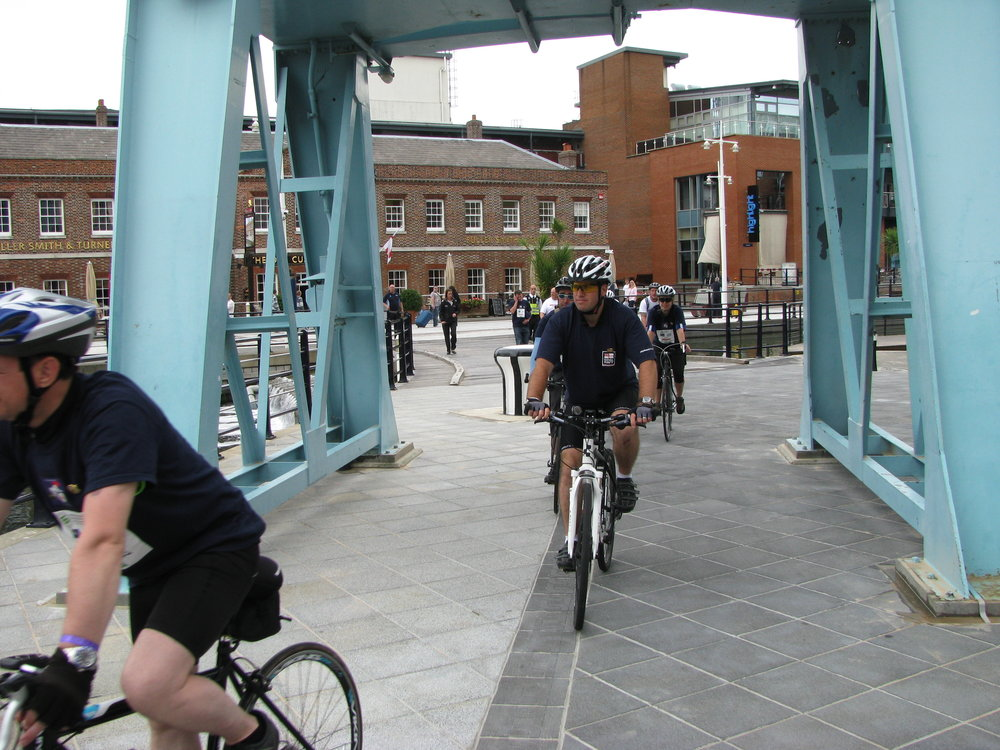 27 July 2011 MW Charity Riders arrive at Gunwharf Quays 005.jpg