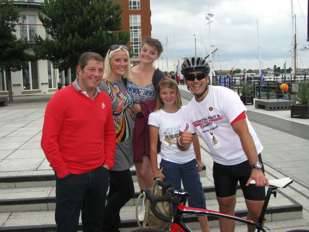 27 July 2011 MW Charity Riders arrive at Gunwharf Quays 015.jpg
