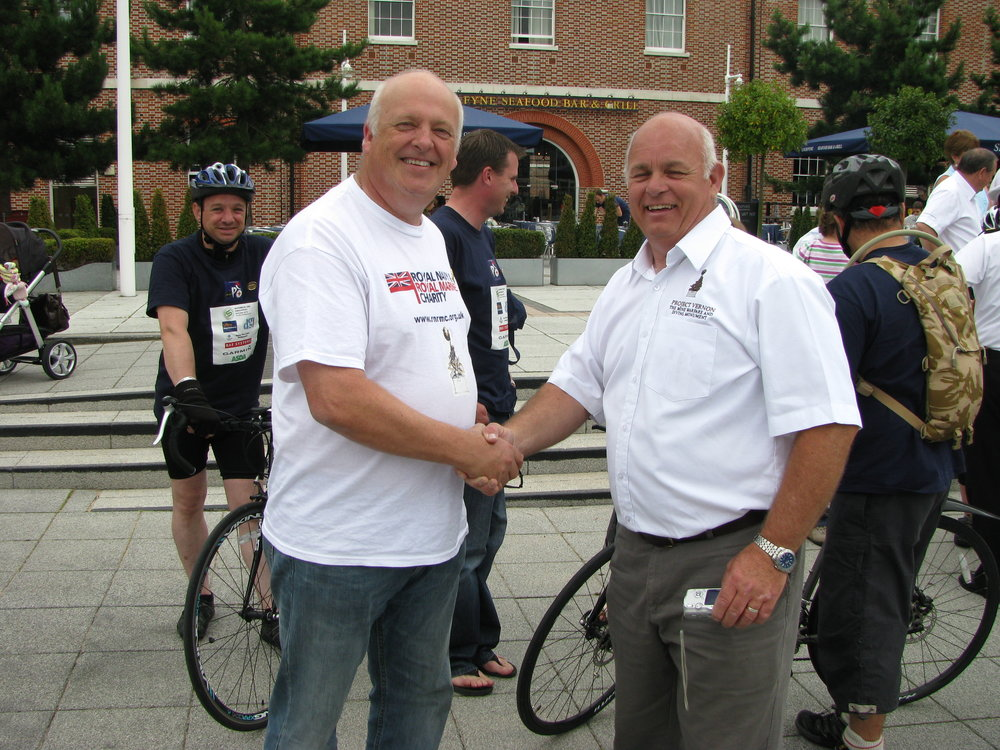 27 July 2011 MW Charity Riders arrive at Gunwharf Quays 012.jpg