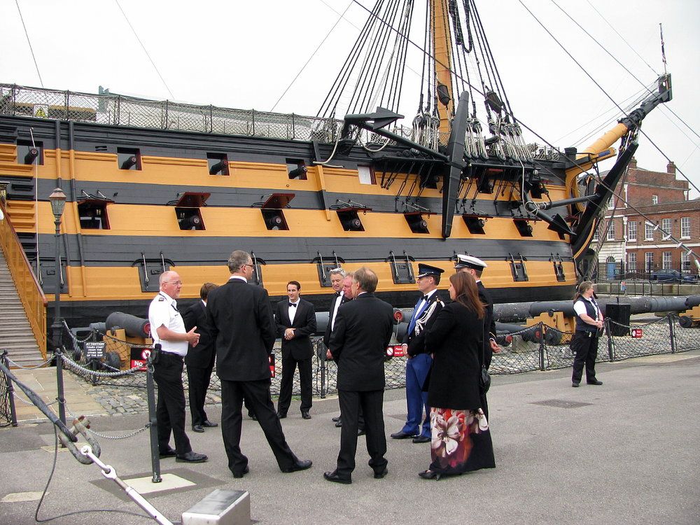 Project Vernon charity dinner on board HMS Victory 11 Sep 2014 (5).jpg