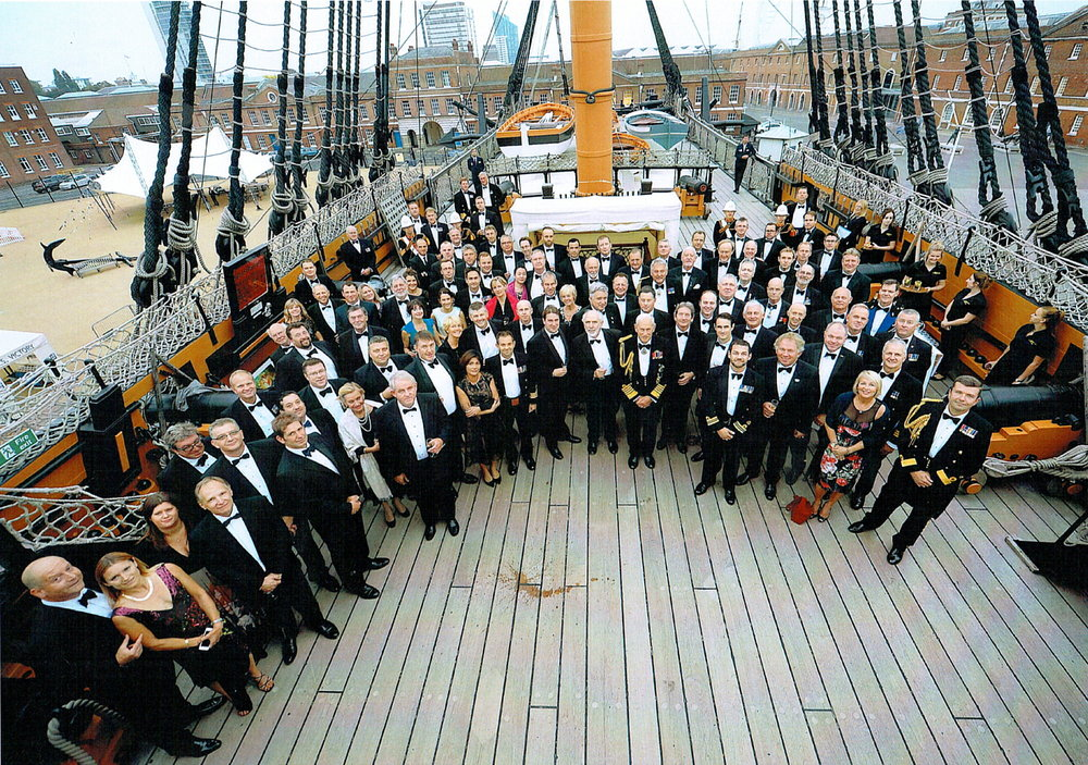 HMS Victory PV charity dinner group photo.jpg
