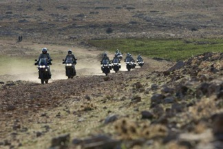 Off road Triumph Explorer 1200 in Ifrane