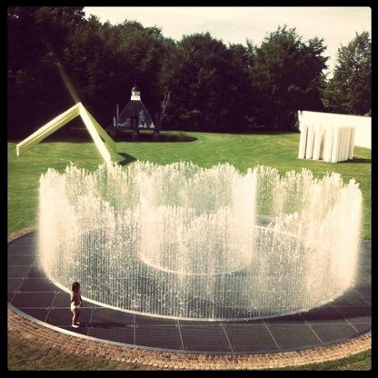 De tuin van het kunst museum in Aalborg