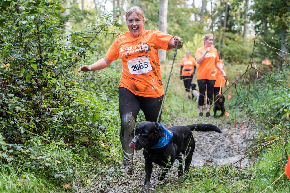 Jogging along at the Muddy Dog Challenge