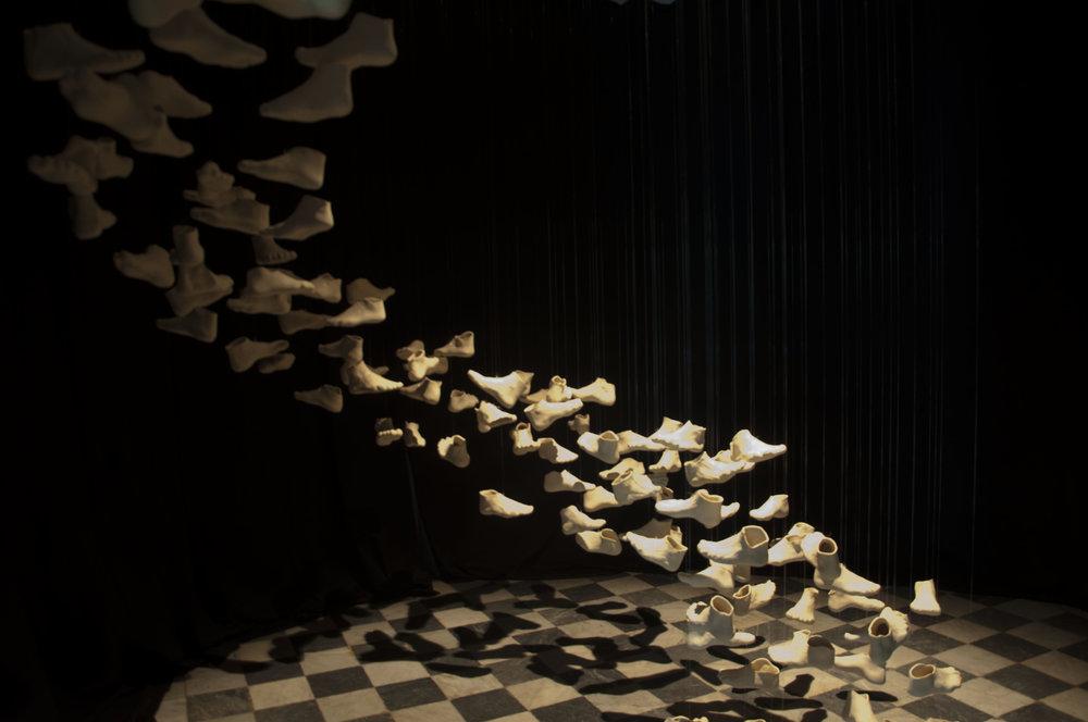 Instalação de Arte Caminho da Palavra - Ana Biolchini - Brasil