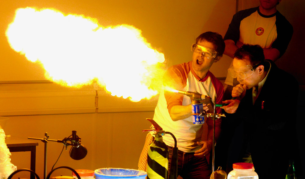 FOOD FLAMETHROWING -