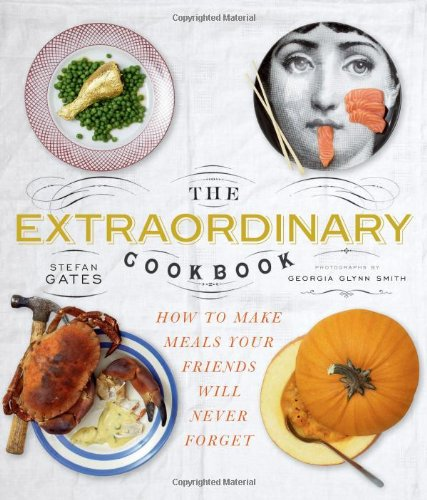 The Extraordinary Cookbook - Kyle Books, 2010How to make meals that your friends will neverforget.It's a completely practical cookbook but all the food is in some way extraordinary, interactive or enlightening. Some dishes are gently adventurous (whole artichokes and sushi-rolling parties), others are completely wild (golden chicken and salmon cooked in a dishwasher) but, crucially, most of it is made from ingredients that you use every day.The idea is to get you and your friends eating wonderful, extraordinary meals that you'll never forget.