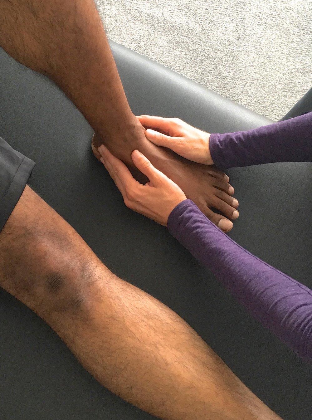 Examples of Addressable Concerns - •Muscle & Joint Pain•Pre-Surgery & Post-Surgery Limitations•Scar Tissue•Inflammation of an Area - Bursitis, Tendinitis, Arthritis, Osteoarthritis•Nerve Issues - Sciatica, Thoracic Outlet, Carpal Tunnel, Neuralgia, etc.•Spine - Bulging Discs, Low Back Pain, Scoliosis, etc.•Pelvis- Bladder Function, Scars , Birth Trauma, Pelvic Floor Issues, IVF, Tailbone, etc.•Upper Limb - Rotator Cuff, Frozen Shoulder, Tennis/Golfer's Elbow, etc.•Hip & Knee - IT Band Syndrome, Patellar Pain, Knee Imbalances, etc.•Lower Leg - Shin Splints, Plantar Fasciitis, Ankle Sprains, Bunion, etc.•Neck, Head & Face - TMJ Pain, Headaches, Neck Pain, Whiplash, Vertigo, Head Trauma, etc.•Prevention, Balance, Posture, Mobility, Restrictions, Limitations and more!