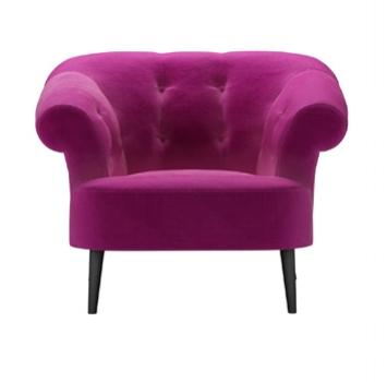 Zeppelin chair from Sofa.com in Peony cotton velvet