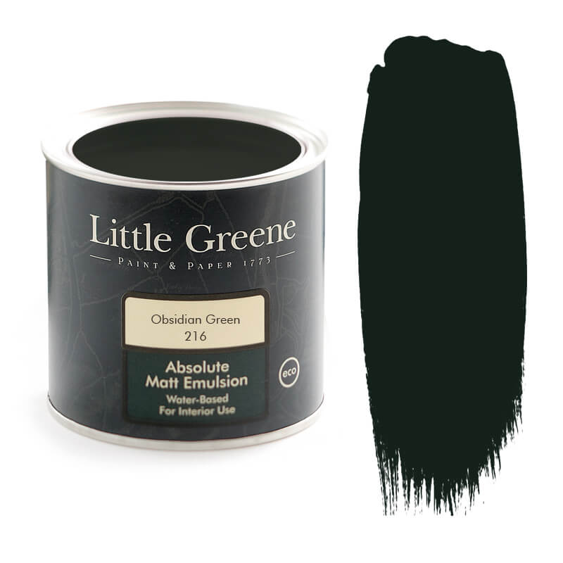 Obsidian Green paint by Little Greene