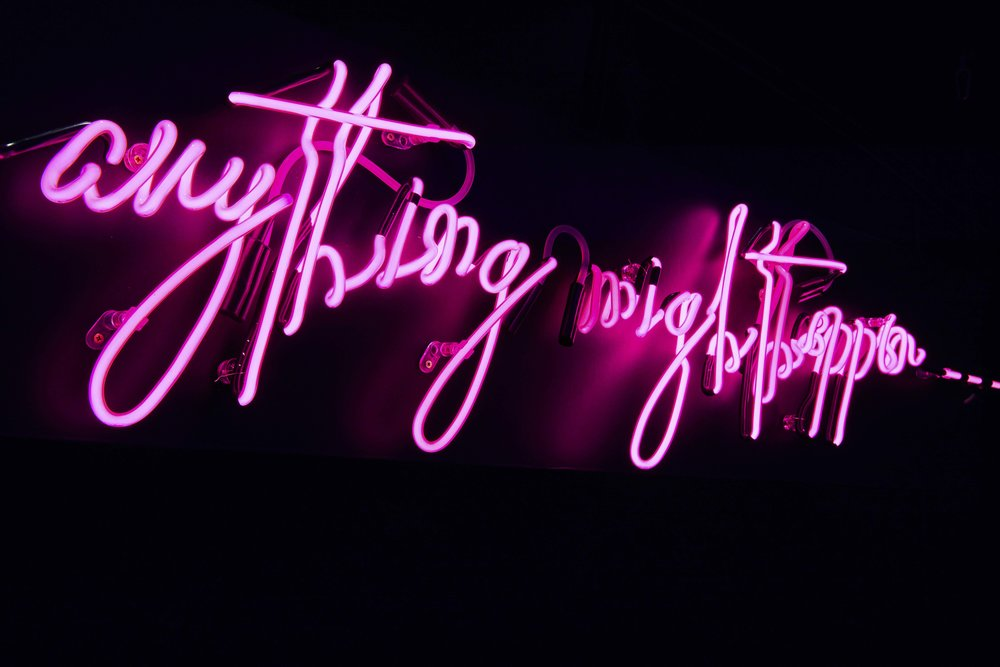 Anything Might Happen Neon - Tobacco Docks - By Lumens Of London