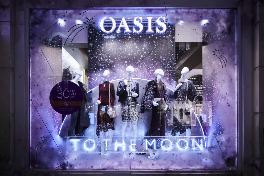 To The Moon Neon - Oasis - By Lumens Of London